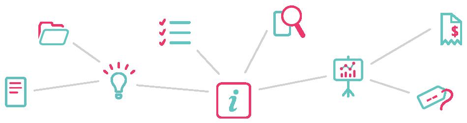Illustrating Infonomics using LINQ graphical icons - transparent background