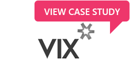 Organisation logo for Vix Technology with link to their case study