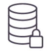 A LINQ icon for the Data industry - a representation of a digital data store