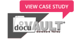 DocuVault logo with Case Study