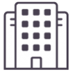 A LINQ icon for the financial sector - a bank styled building